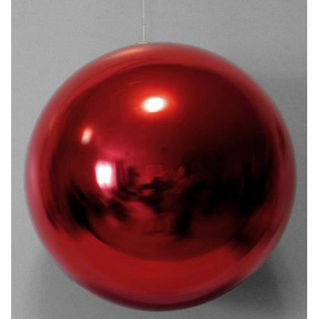Boules de noël géantes rouges 20 cm