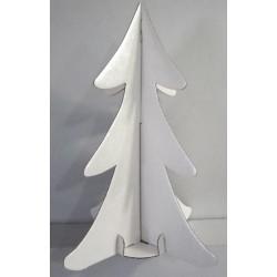 Sapin de noël en carton blanc