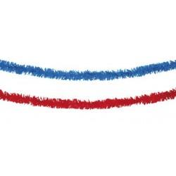 Guirlandes 10 mètres bleu ou rouge