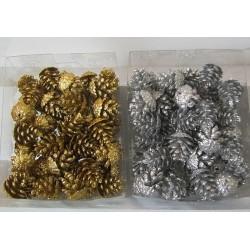 Mini pignes métallisées