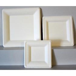 Assiette carrées bio