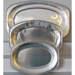Plats en aluminium mat