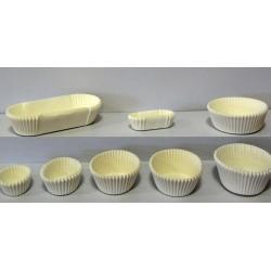 Caissettes de cuisson papier blanc