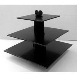 Présentoir noir carré 3 étages