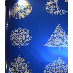 Lumaline bleue motifs argent
