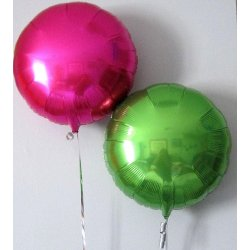 Ballons alu ronds n°1- 7 COULEURS DISPO