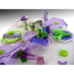 Déco table Vert / Lilas