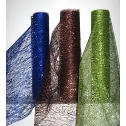 Chemins de table glitter choco, bleu roi ou vert