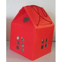 Boîtes maison rouge 2 tailles