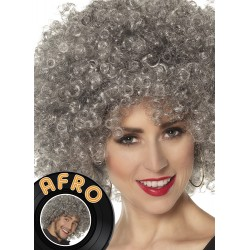 Perruque Afro grise