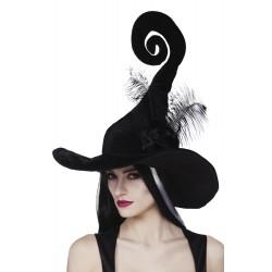 Chapeau sorcière tire bouchon