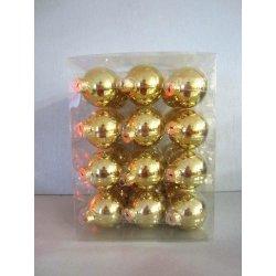 Boules de Noël en verre Ø 6 cm OR