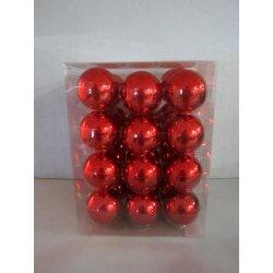 Boules de Noël en verre Ø 6 cm ROUGE