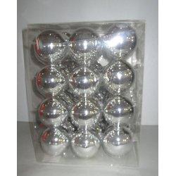 Boules de Noël en verre Ø 6 cm ARGENT