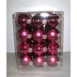 Boules de Noël en verre Ø 6 cm FUSHIA FONCE