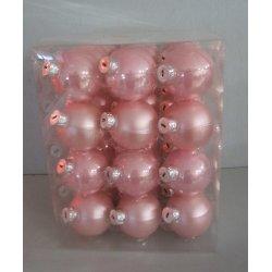 Boules de noël en verre Ø 6 cm ROSES