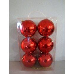 Boules de noël plastiques 10 cm ROUGE