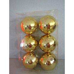 Boules de noël plastiques 10 cm OR