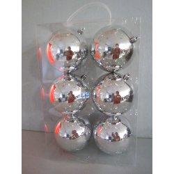 Boules de noël plastiques 10 cm ARGENT