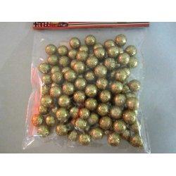 Mini boules de noël pailletées OR
