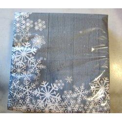 Serviettes ouate sous la neige bleu