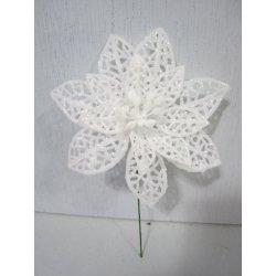 Fleurs de noël blanches irisées
