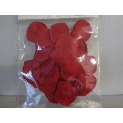 Pétales tissu 4 cm rouge
