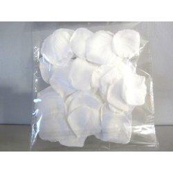Pétales tissu 4 cm blanc