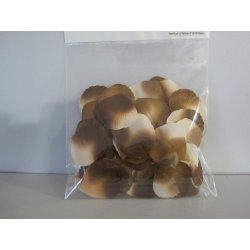Pétales tissu 4 cm chocolat