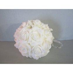 Boule fleur blanche a pendre