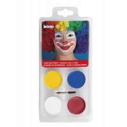 Palette de maquillage clown