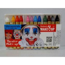 12 crayons gras