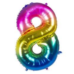 Ballons chiffres 86 cm alu Multi