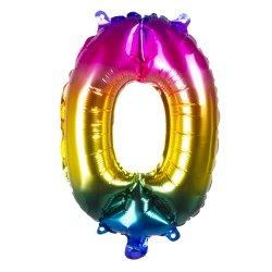 Ballons chiffres 30 cm en alu Multicolore