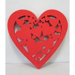 Coeurs Découpes 25 cm à pendre