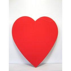 Coeur rouge 40 cm en gomme