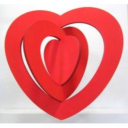 Coeur rouge 40 cm 3 D