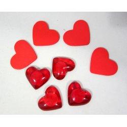 Petits coeurs rouges st valentin