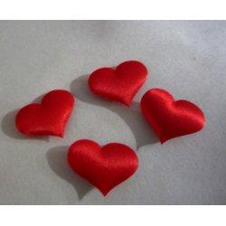 Coeurs rouges tissus autocollants