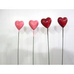 Coeurs 5 cm sur pique