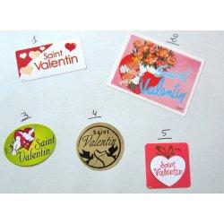Etiquettes pro St Valentin