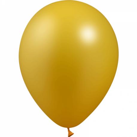 Ballons métallisés 27 cm 3 couleurs au choix