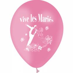 Ballons imprimés sur 1 face Vive les mariés
