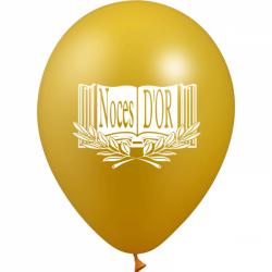 Ballons imprimés sur 1 face Noces d'or