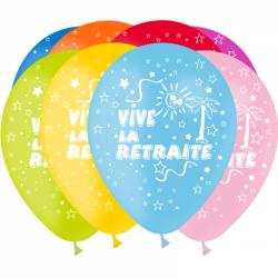 Ballons imprimés Vive la Retraite