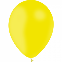 Ballons 30 cm citron, jaune d'or et orange