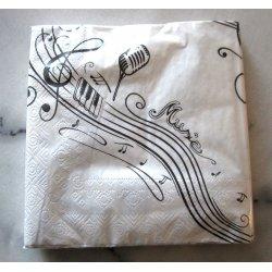 Serviettes Musique