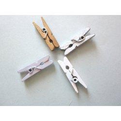 Pinces à linge miniatures par pqts de 24