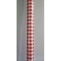 Nappes papier damassées Vichy rouge