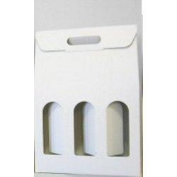 Boîtes cadeau pour 3 bouteilles blanche